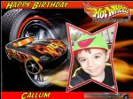 A4 Personalised Your Photo on Hot Wheels Edible Icing or Wafer Cake Topper